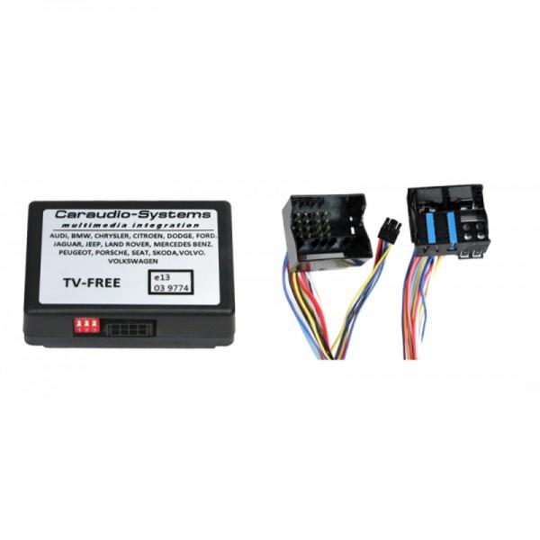 TV-Freischaltung für VW MFD3/RNS510/RNS810, Skoda Columbus etc. incl. Kabelsatz