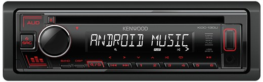 KENWOOD KDC-130UR MP3-Tuner red USB + Aux-IN