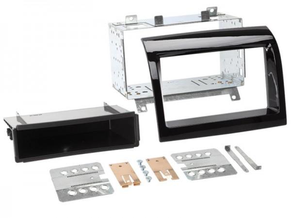 Doppel Din Radioblende mit Fach Citroen/Fiat/Peugeot Klavierlack
