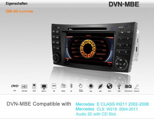 DYNAVIN Multimediagerät MERCEDES E-Klasse W211