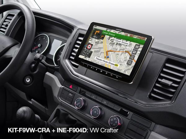 VW Crafter Alpine INE-F904D Navigationssystem Komplettset