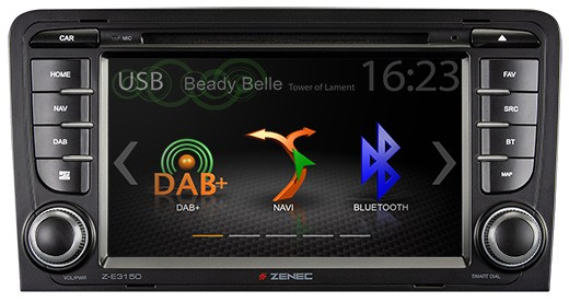 "ZENEC Z-E3150 Infotainer mit 7"" Panel für Audi A3"