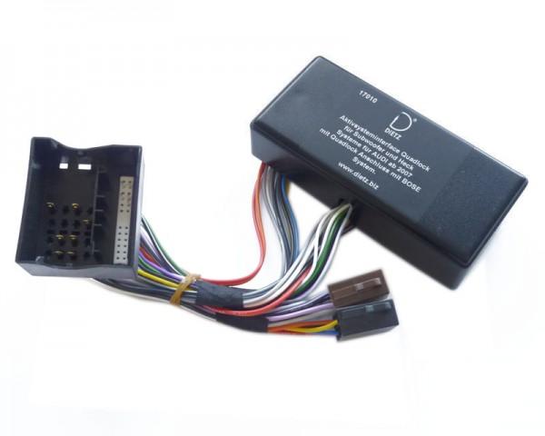 Aktivinterface AUDI Quadlock, 4 x 50 W max.