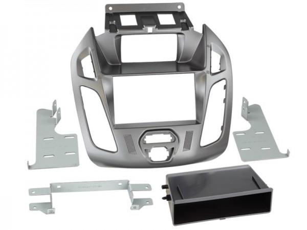 Doppel Din Radioblende m. Fach Ford Transit Connect (Display) Phönixsilber
