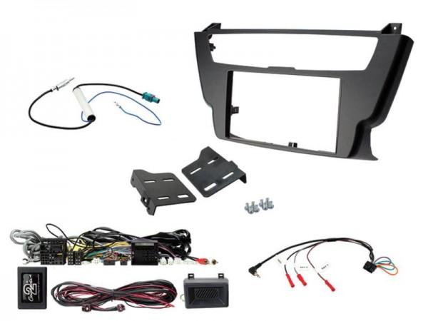 2-DIN Kit BMW (Lenkrad Fernbedienungsadapter-Adapter) 3er / 4er schwarz