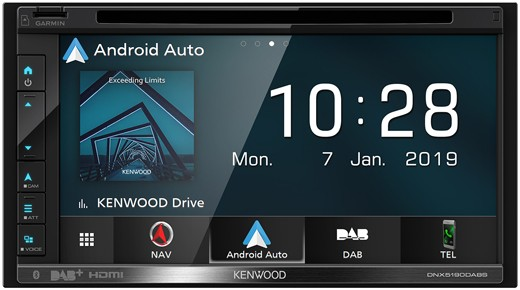 KENWOOD DNX5190DABS 2-Din Navigation mit DAB u. BT