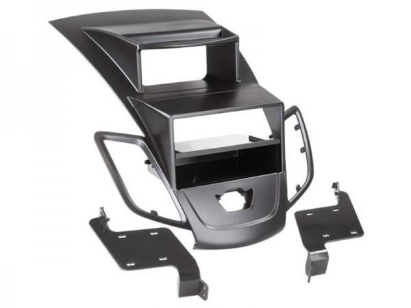 Doppel Din Radioblende mit Fach Ford Fiesta (mit Display) 2008 > schwarz