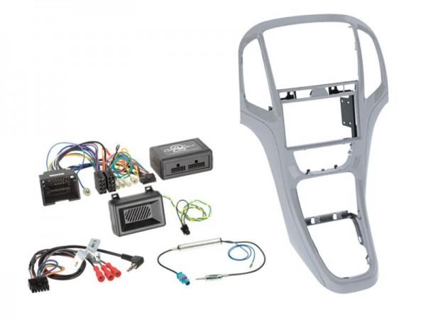 Astra Komplett Kit 2-DIN Platin Silber