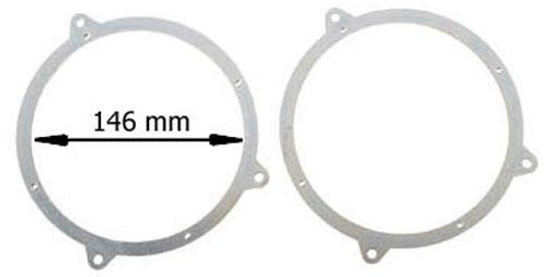 Lautsprecherringe 165mm für BMW e46