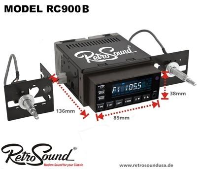 "RETROSOUND Autoradio Model RC-900B ""Black"""