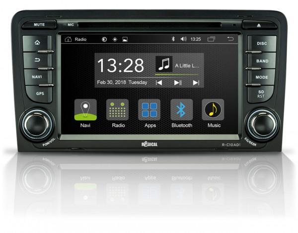 Radical R-C10AD1 Fahrzeugspezifischer Android Infotainer für Audi A3