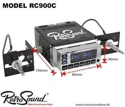 "RETROSOUND Autoradio Model RC-900C ""Chrom"""