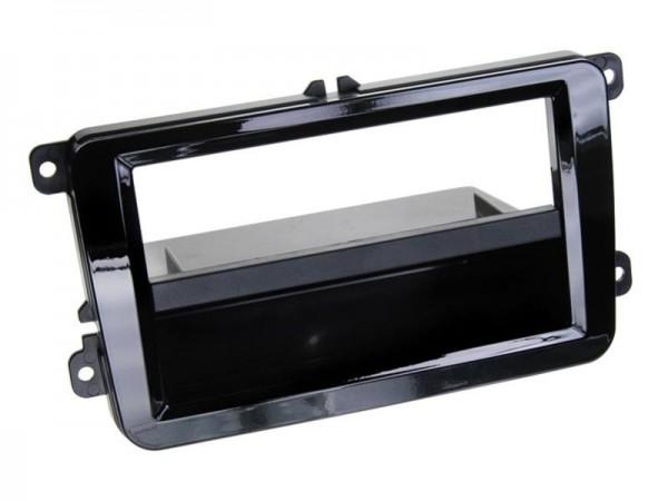2-Din Radioblende mit Fach Seat/Skoda/VW Klavierlack schwarz