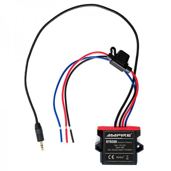 AMPIRE Bluetooth Receiver, 3.5mm Klinke, 12 Volt